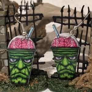 Jewelry - 2X HP Zombie Juice Acrylic Earrings